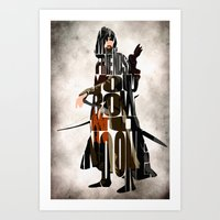 lotr Art Prints featuring Aragorn Inspired Minimalist LOTR Poster by Ayse Deniz