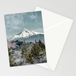 Frosty Mountain - Nature Photography Stationery Cards