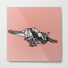Geometric Sugar Glider Metal Print