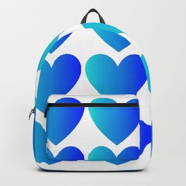 Love Hearts Classic Blue Ombre Backpack