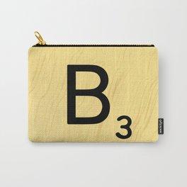Scrabble B Decor, Scrabble Art, Large Scrabble Prints, Word Art, Accessories, Apparel, Home Decor Carry-All Pouch