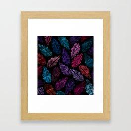 Colorful leaves Framed Art Print