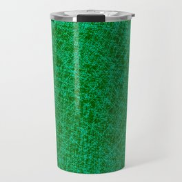 Scratched Green Travel Mug