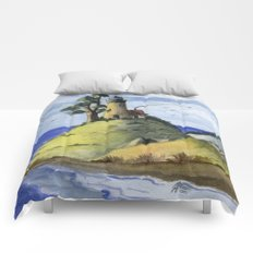 Peaceful Lighthouse IV Comforters