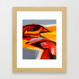 The Present Abstract Landscape Framed Art Print