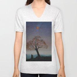 Lonely Tree Unisex V-Neck