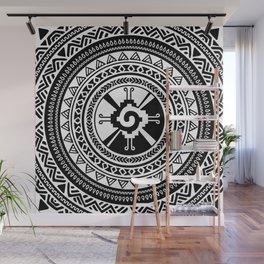 Hunab Ku Mayan symbol black and white Wall Mural