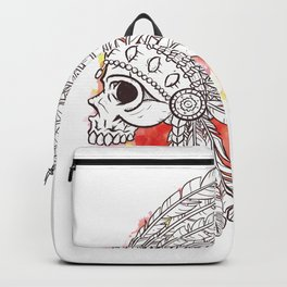 Native indian skull Backpack