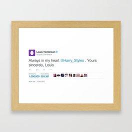 Always In My Heart 1 million Framed Art Print