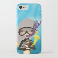 scuba iPhone & iPod Cases featuring scuba by Anne  Martwijit