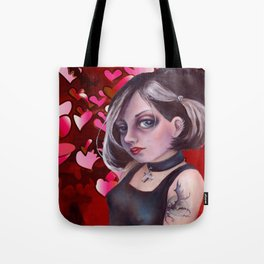 The Goth, Hearts Tote Bag