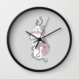 From Zero - Octopus Illustration Wall Clock