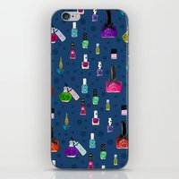 nail polish iPhone & iPod Skins featuring Fancy Nail Polish by Elisandra