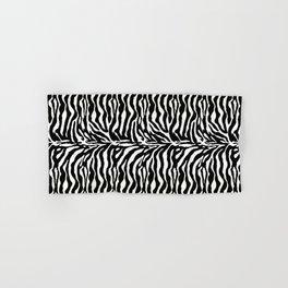 Wild Animal Print, Zebra in Black and White Hand & Bath Towel