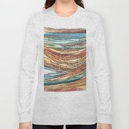 Abstract Sediment Long Sleeve T-shirt