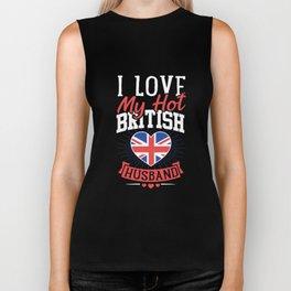 I Love My Hot British Husband Tshirt UK England Biker Tank