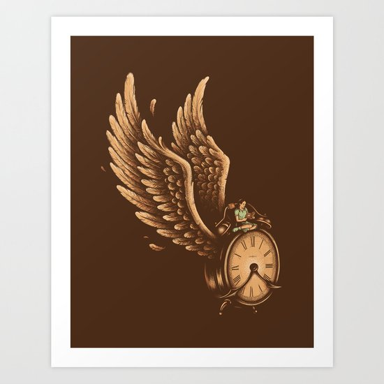 Time Flies Art Print