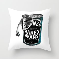 Beanz pen Drawing (colour) Throw Pillow
