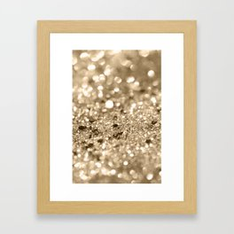 Champagne Gold Lady Glitter #1 #shiny #decor #art #society6 Framed Art Print
