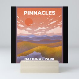 Pinnacles National Park - Retro Sunset Mini Art Print