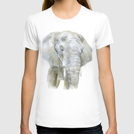 Elephant Watercolor Painting - African Animal T-shirt