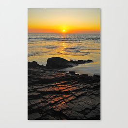 exhale and wave goodbye to the day Canvas Print