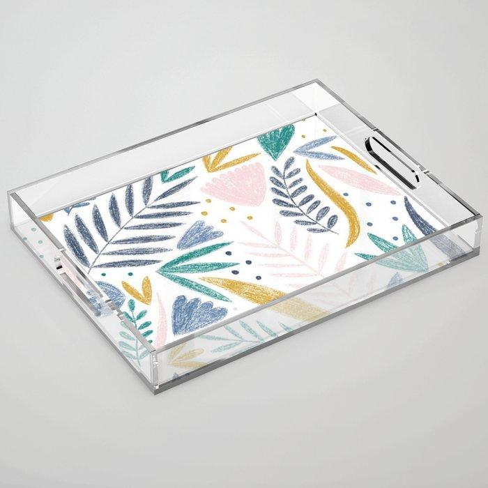 Sketchy Floral Acrylic Tray