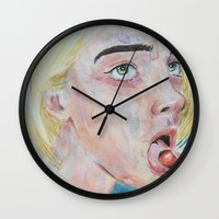 cherry Wall Clocks featuring Cherry by SirScm