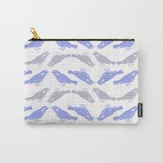 Little Bird (blue & grey) Carry-All Pouch