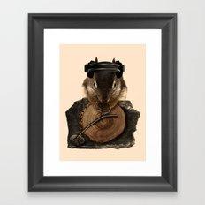 Squirrel DJ Framed Art Print