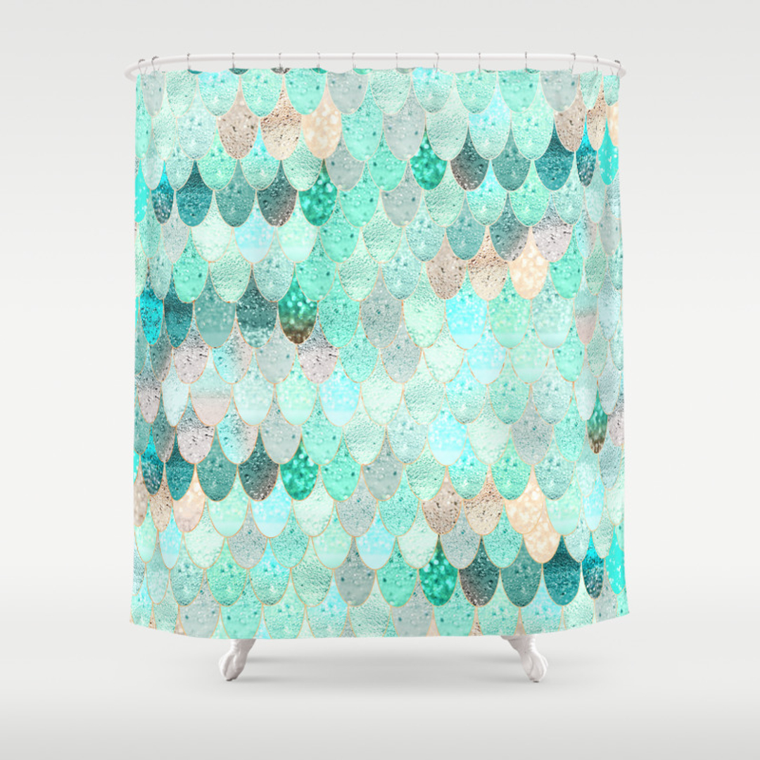 Mermaid shower curtains - Mermaid Shower Curtains 14