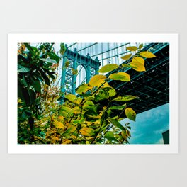 Manhattan Bridge Meets Autumn Art Print