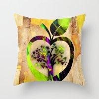 Apple Tree Throw Pillow