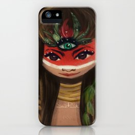 Red face ;) iPhone Case