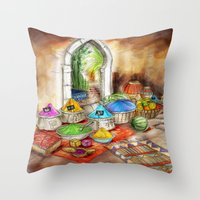 morocco Throw Pillows featuring Morocco by Helene Michau