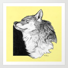 Sunny Wolf Art Print