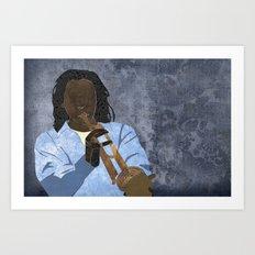 Trumpet player Art Print