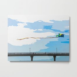 Chasing the Kite Metal Print