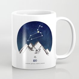 Astrology Leo Zodiac Horoscope Constellation Star Sign Watercolor Poster Wall Art Coffee Mug