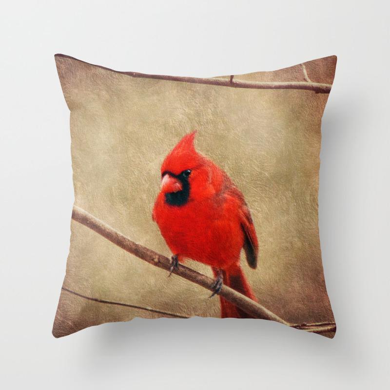 Redbird Throw Pillows   Society18