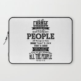 Doctor Who - We All Change Laptop Sleeve
