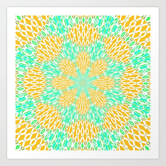 Aqua Oceania  Art Print