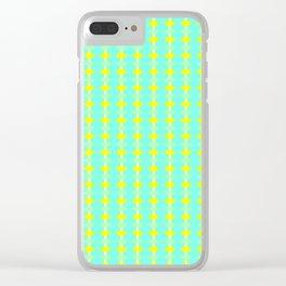 aqua circles Clear iPhone Case