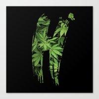 marijuana Canvas Prints featuring Marijuana H by Spyck