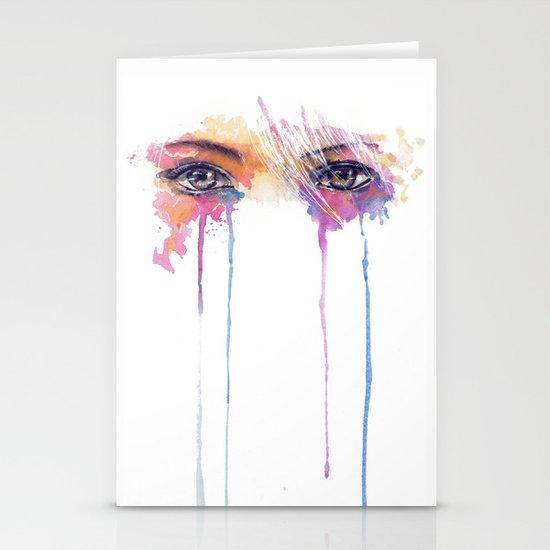 Rainbow Tears Stationery Cards