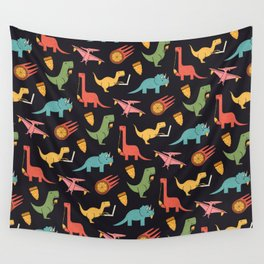 Pizza Dinos Wall Tapestry
