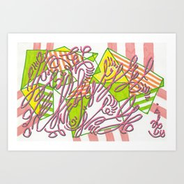 Example: dazzled manifesto (with foreground distraction) Art Print
