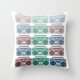 """I CAN'T LIVE WITHOUT MY RADIO"" Throw Pillow"