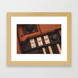 Hammond Switches / Knobs Framed Art Print