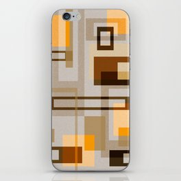 Mid Century Modern Blocks on Sand iPhone Skin